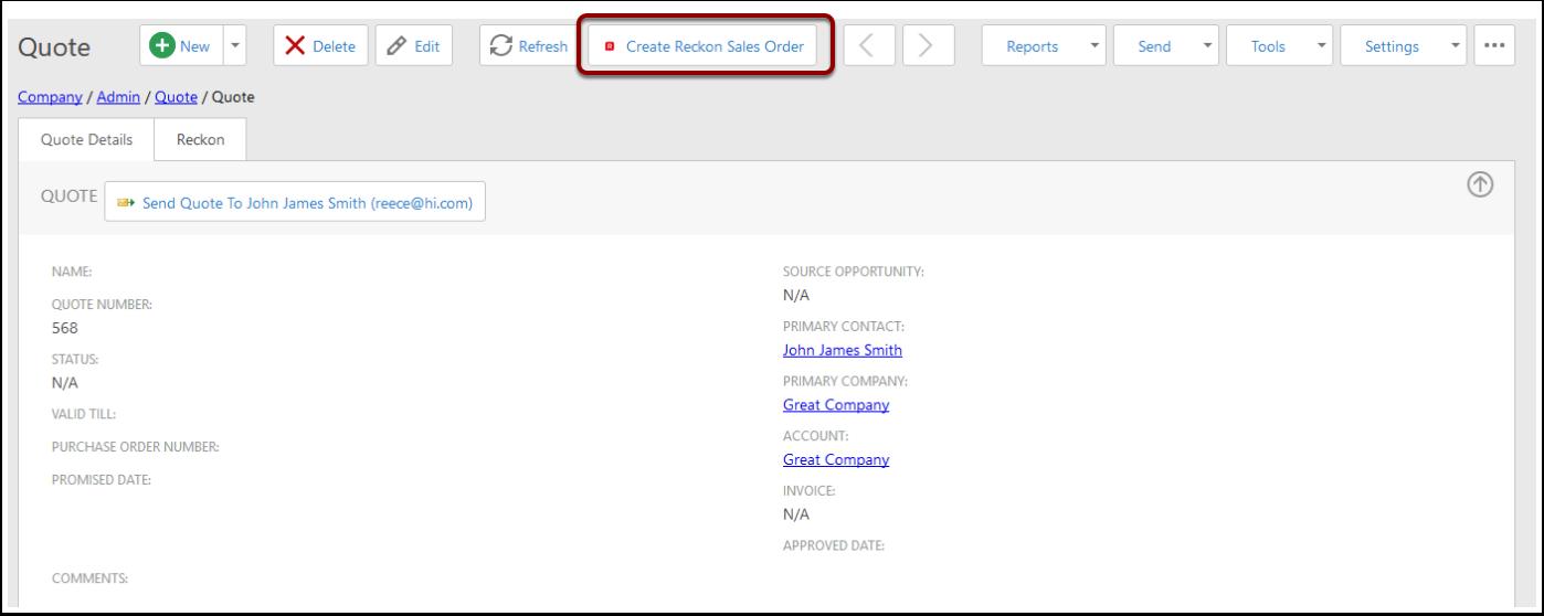 Creating Reckon Quote/Invoice/Sales Orders · GitBook